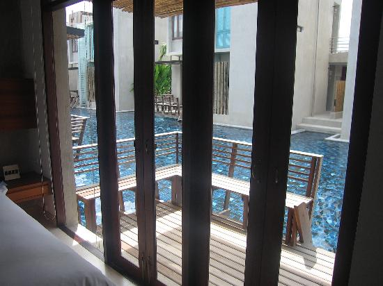 Let's Sea Hua Hin Al Fresco Resort: View to pool