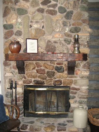 Ballard Inn: our fabulous fireplace
