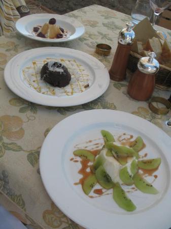 Palazzo Brandano: Trio of Fantastic Desserts at Lunch