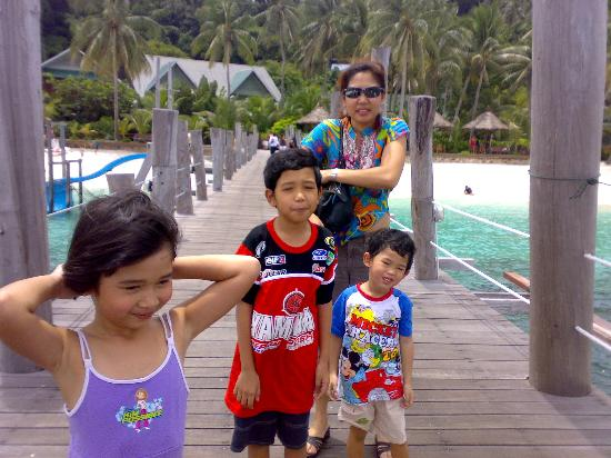 Rawa Island Resort: At the jetty upon arrival