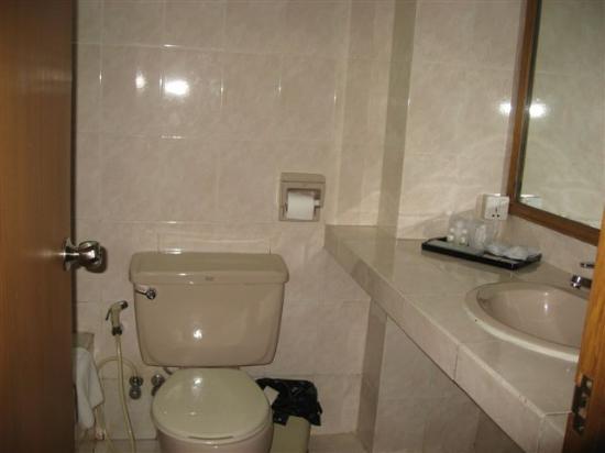 Central Hotel Yangon: Bathroom w/tub & shower
