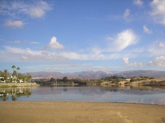 Maspalomas, Spanien: una vista delle dune