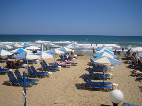 Malliotakis Beach Hotel : Beach view
