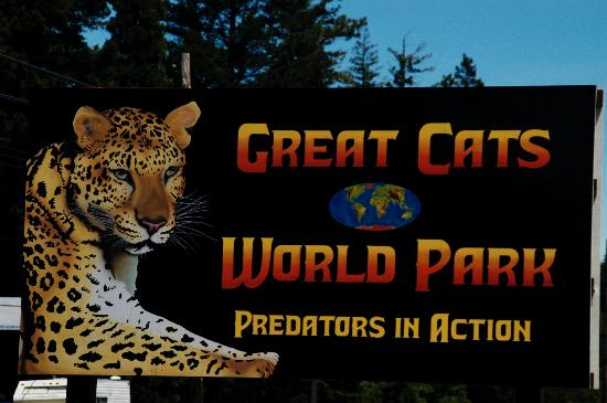 Great Cats World Park: Look for this sign