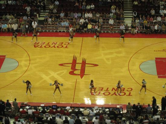 Toyota Center: occasionally we watched the game