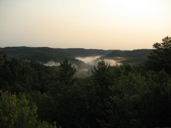 Natural Bridge State Resort Park : View from Natural Bridge in the morning