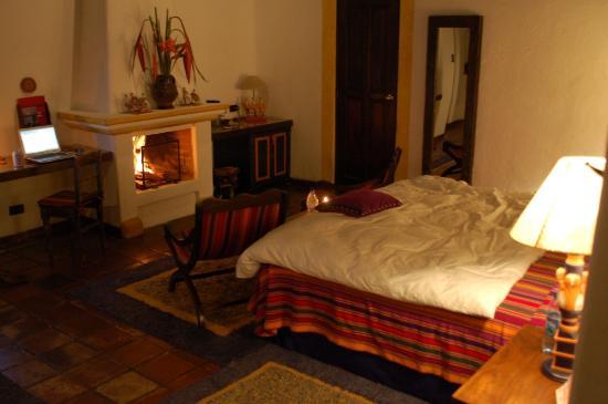 Quinta de las Flores : My room, with a fire going!