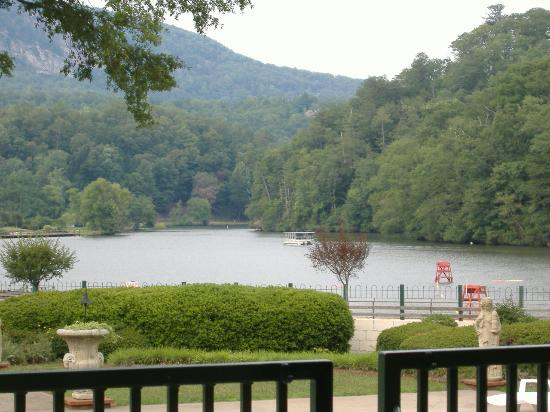 The 1927 Lake Lure Inn and Spa: The view from the Veranda Restaurant