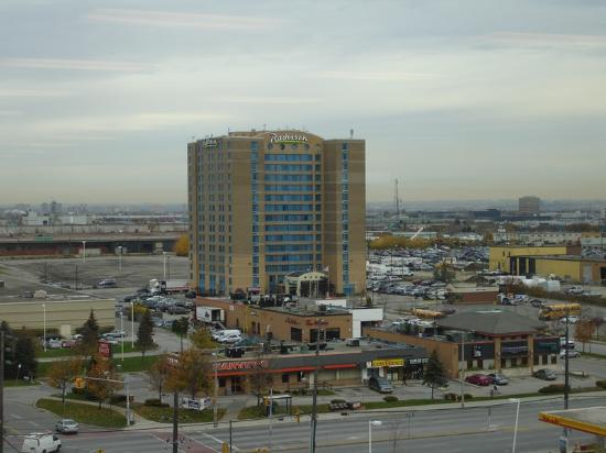 Radisson Suite Hotel Toronto Airport View Of The From Across Street