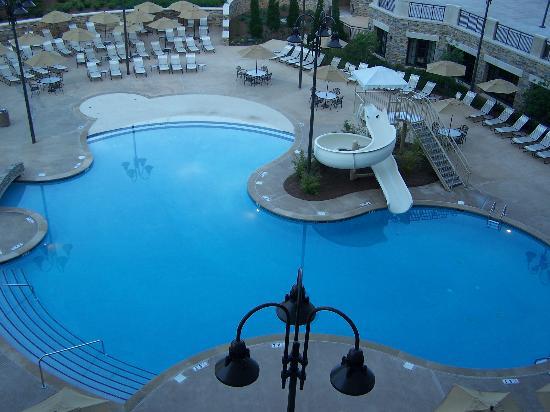 The pool great slide picture of renaissance birmingham for Pool show birmingham