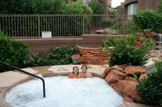 Adobe Grand Villas : My husband and I enjoying the wonderful hottub.