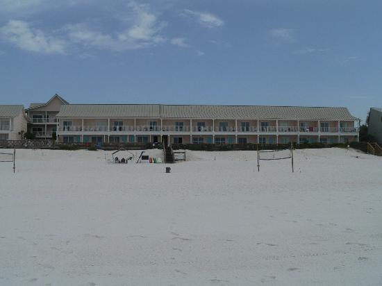 View from beach looking at Sea Oats Motel