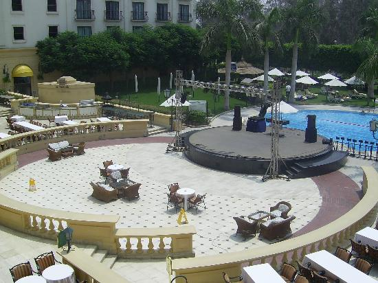 Concorde El Salam Hotel Cairo by Royal Tulip: Stage area, view from room balcony.