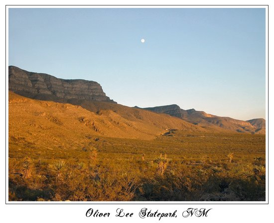 Alamogordo, Nuovo Messico: breathtaking view from the campsite