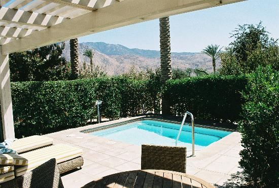 Our private patio and pool 2 - Picture of Morongo Casino, Resort ...