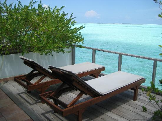 Water Bungalow Terrace Picture Of Sun Island Resort And