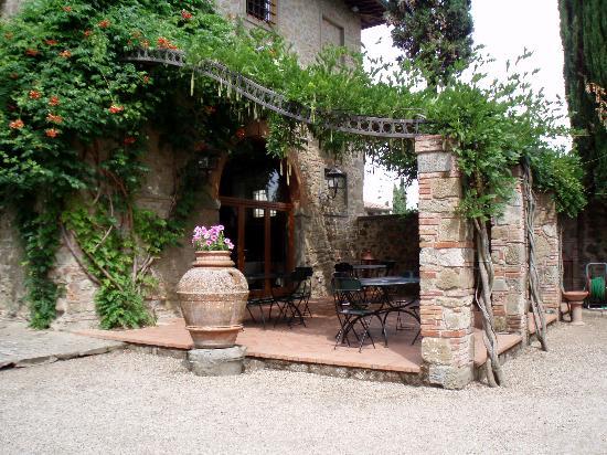 Cavriglia, İtalya: Patio