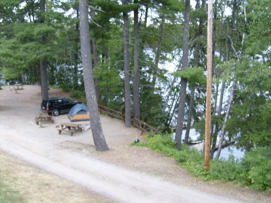 Silver Rapids Lodge: Tent site