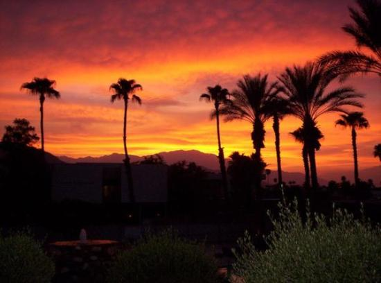 International Hotel & Suites: sunset in Palm Desert 2006