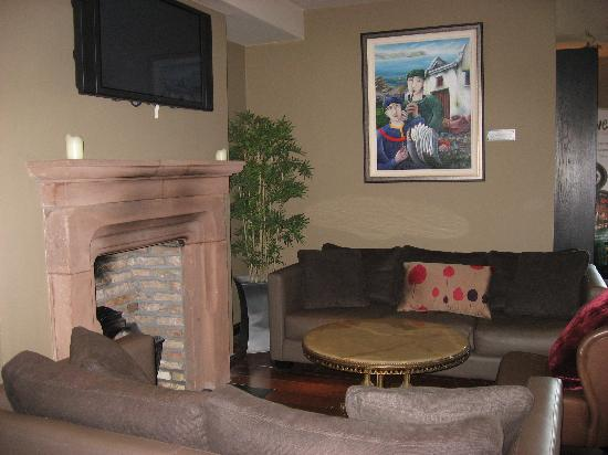The Twelve Hotel: Cozy area of pins where a football or rugby match was always showing on the television