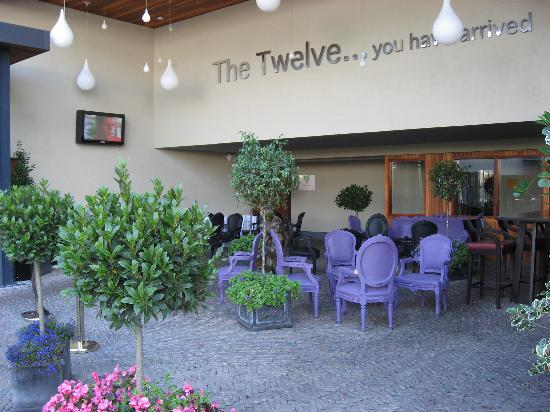 The Twelve Hotel: Outdoor seating area for dining and relaxing.