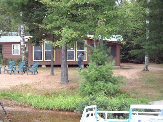 Eagle River, WI: View of Cabin from Dock