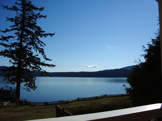 Orcas Island, Etat de Washington : view from Inn