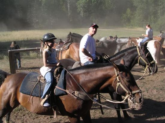 Sun Mountain Lodge: Horseback riding on Flag and Fireman
