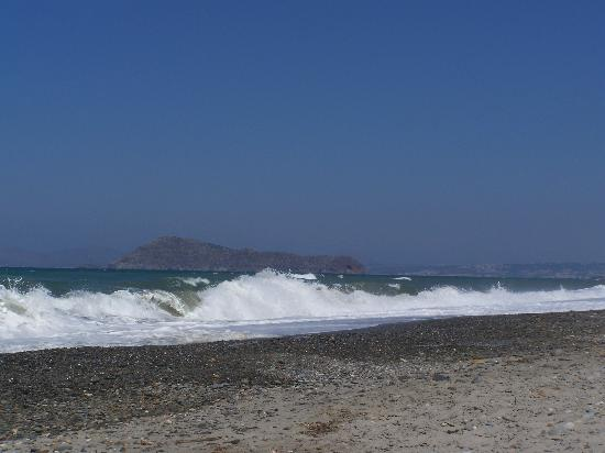 The Waves at Maleme Beach (Not Always Rough).
