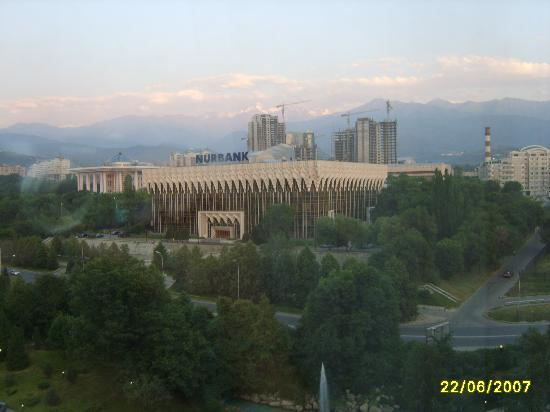 InterContinental Almaty Hotel: Looking out from my hotel room