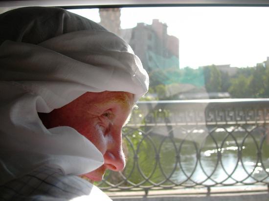 Mercure Hurghada Hotel: crossing the Nile bridge in Cairo
