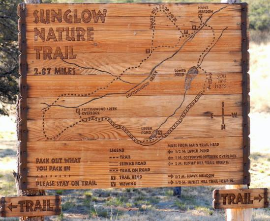 Sunglow Ranch - Arizona Guest Ranch and Resort: Trail map at Sunglow Ranch