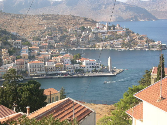 Symi, Hellas: gialos from chorio