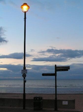 Abercorn Guest House: First evening at Portobello Beach
