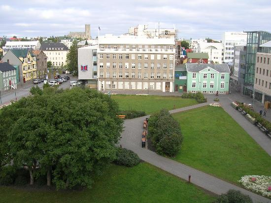 Hotel Borg by Keahotels: balcony view 2, center of town square