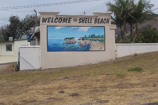 Shell Beach, CA: Welcome sign
