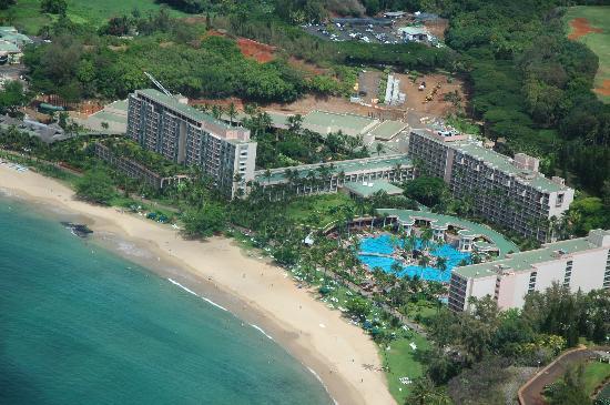 Marriott's Kaua'i Beach Club: Helicopter view