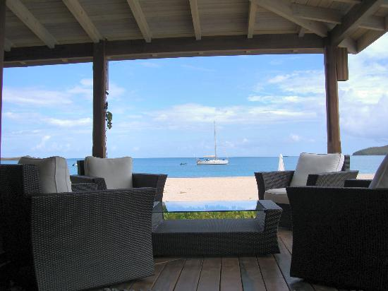 Hermitage Bay: Blick aus der Bar