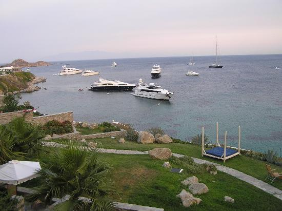 Grecotel Mykonos Blu Hotel: Several yachts were around those days