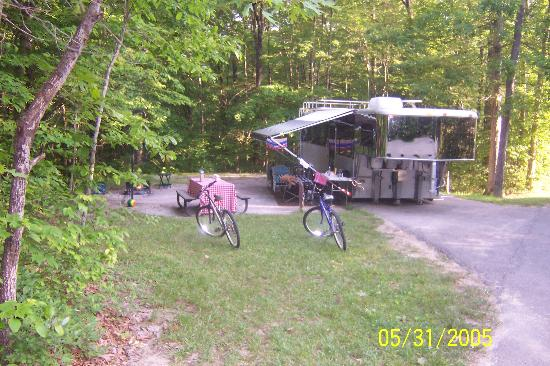 Bandy Creek Campgrounds: A campsite at Bandy Creek Campground