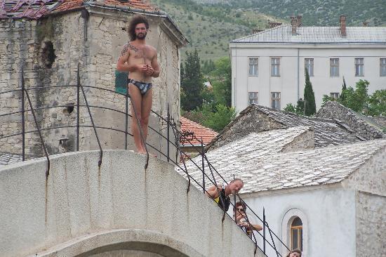 Old Bridge (Stari Most): Diving off the bridge