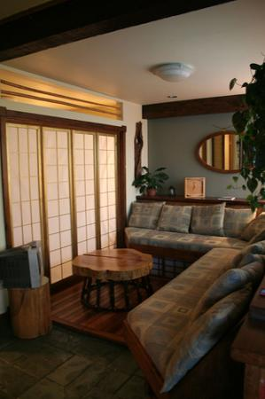 Between Friends Bed & Breakfast: living room - Zen Suite