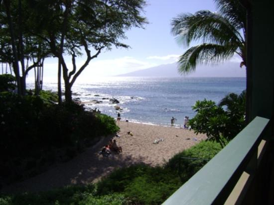 The Napili Bay : Unit 211 - Daytime view from lanai.