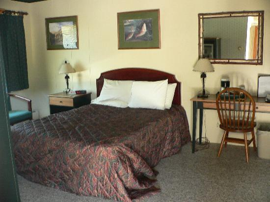 The Hungry Trout Resort: Hotel room.