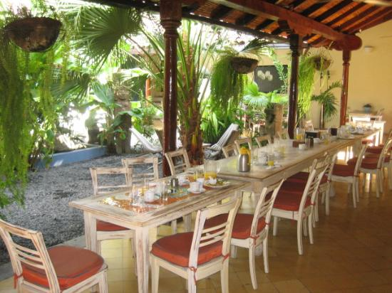Hotel El Club: The Patio and Restaurant Area