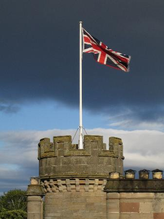 The Carnegie Club at Skibo Castle: Union Jack flying from the Tower