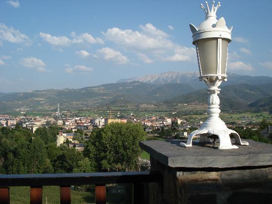 La Seu d'Urgell, Espagne : Blick von der Hotelterasse auf La Seu
