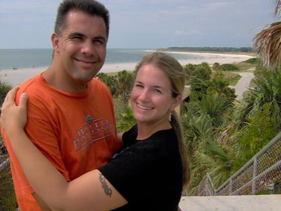 Fort De Soto Park: Husband and I atop the fort