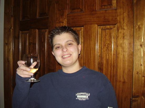 The Overlook Inn Bed and Breakfast: The wine is always good!