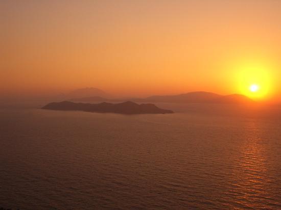 Kritinia Castle - sunset